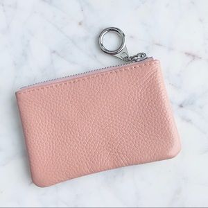 Accessories - Dusty pink leather coin purse